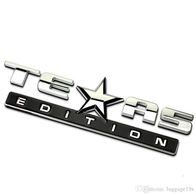 3D Edición de Texas Emblema insignias para Chevy Silverado GMC Sierra Rangler Brújula Car Styling etiqueta engomada del emblema Accesorios # 91s