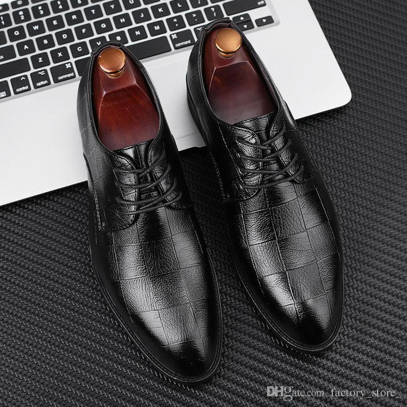 oxford chaussures pour hommes d'affaires chaussures bureau robe cuir hommes chaussures de mariage des hommes de hombre Zapatos coiffeur de Vestir Zapatos formelles hombre