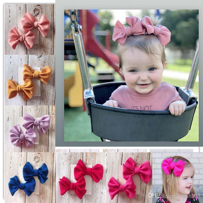 Nueva Europa Baby Girls Big Bow Clip Clip para niños Bowknot Barrette 2pcs Set Barrettes Niños Accesorio para el cabello 14942