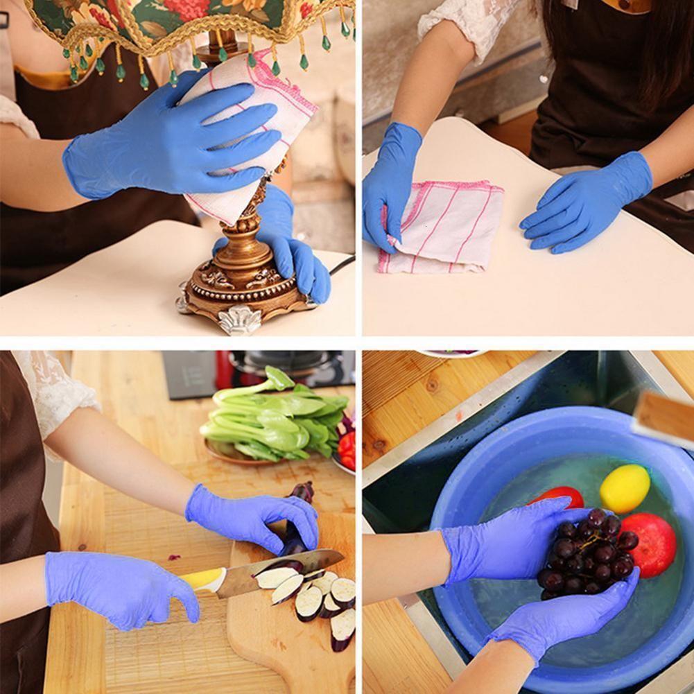 Universales de látex 100 Pcs mecánico guantes de nitrilo protector de Trabajo guante de nitrilo desechables