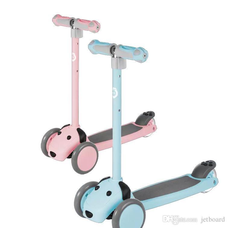 Xiaoxun الأطفال سكوتر من Youpin الارتفاع قابل للتعديل 3 التوجيهية طرق مزدوجة الربيع العودة اللمعان العجلات الرصيد ممارسة ألعاب