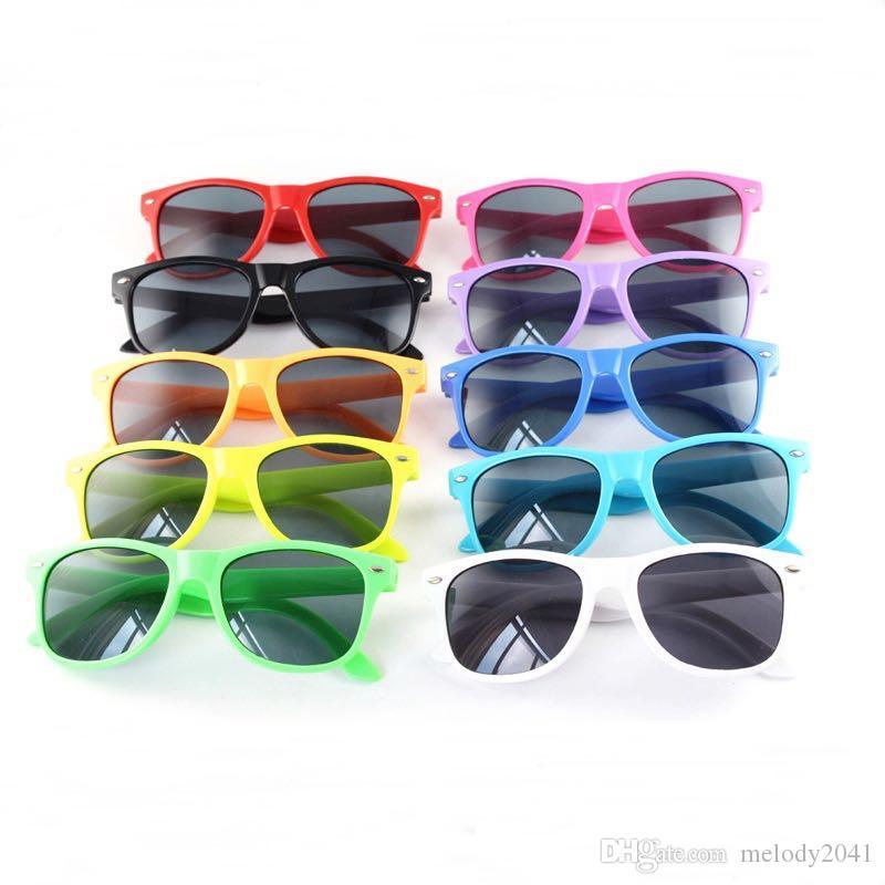 DHL Sendungskinder Reisender Sonnenbrille UV400 Bunte Rahmen Coole Baby Sonnenbrille für Jungen und Mädchen 12 Farben