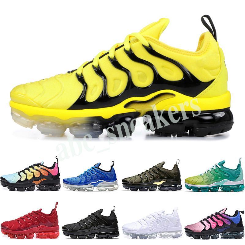 Nike Air Vapormax plus TN Радуга мужская обувь Шмель быть правдой винограда тройные черные туфли Женские щербет классический удобную команды Красный Черный Белый кроссовки