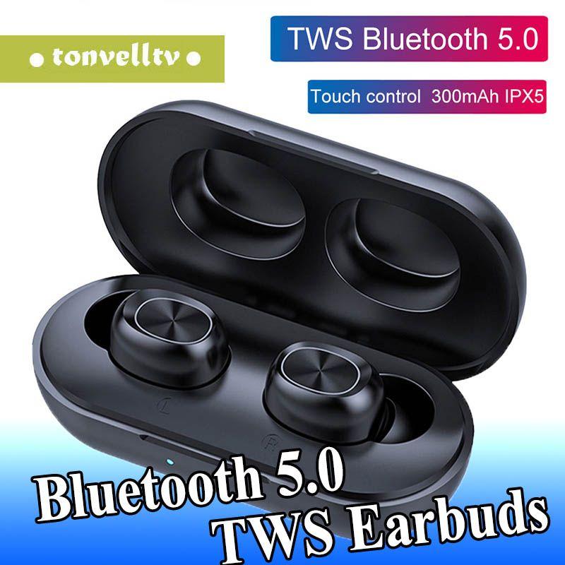 B5 La verdadera estéreo inalámbrico Bluetooth 5.0 TWS Auriculares de alta fidelidad de la música Auriculares para iPhone 11 Pro Huawei Mate de 30 Samsung S10 auriculares
