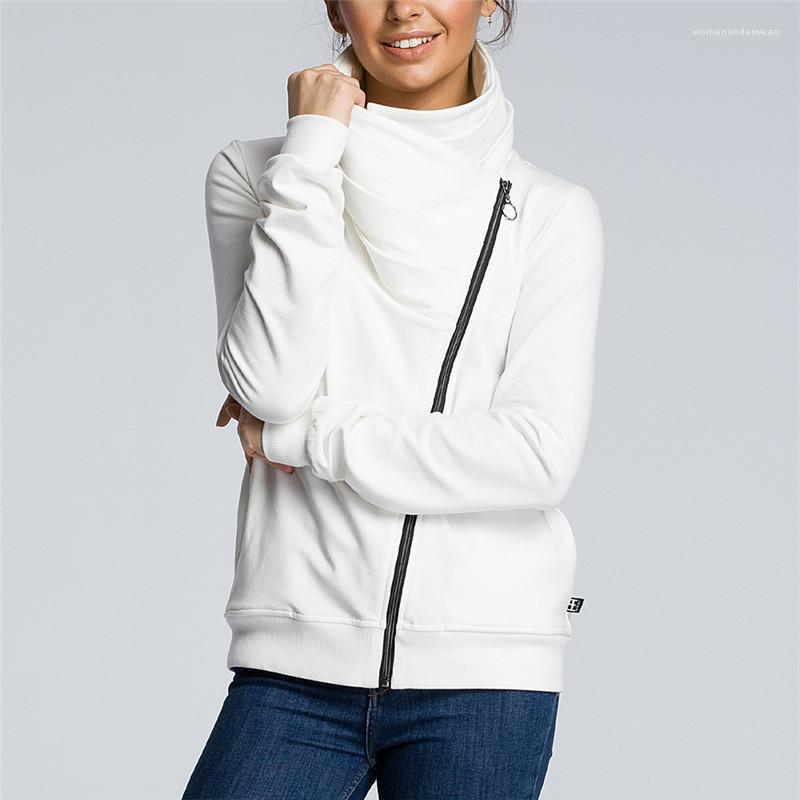 Fermuar Sonbahar Kadınlar Designer ile Katı ceketler Moda Kadınlar Kasetli Coats Casual Dış Giyim