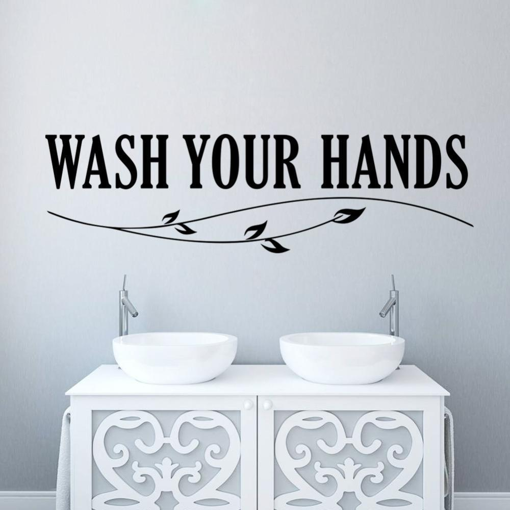 Wash Your Hands Wall Sticker Quotes Bathroom Toilet Wall Decor Poster Waterproof Art Vinyl Decal Bathroom Wall Stickers Wall Decals Tree Wall Decals Uk From Qiansuning8 52 95 Dhgate Com