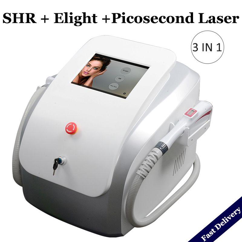 2020 المحمولة بيكو ثانية ليزر آلة صبغ بقعة إزالة إزالة SHR IPL بيكو الثانية ياج الليزر الشعر الوشم جهاز الليزر بيكو