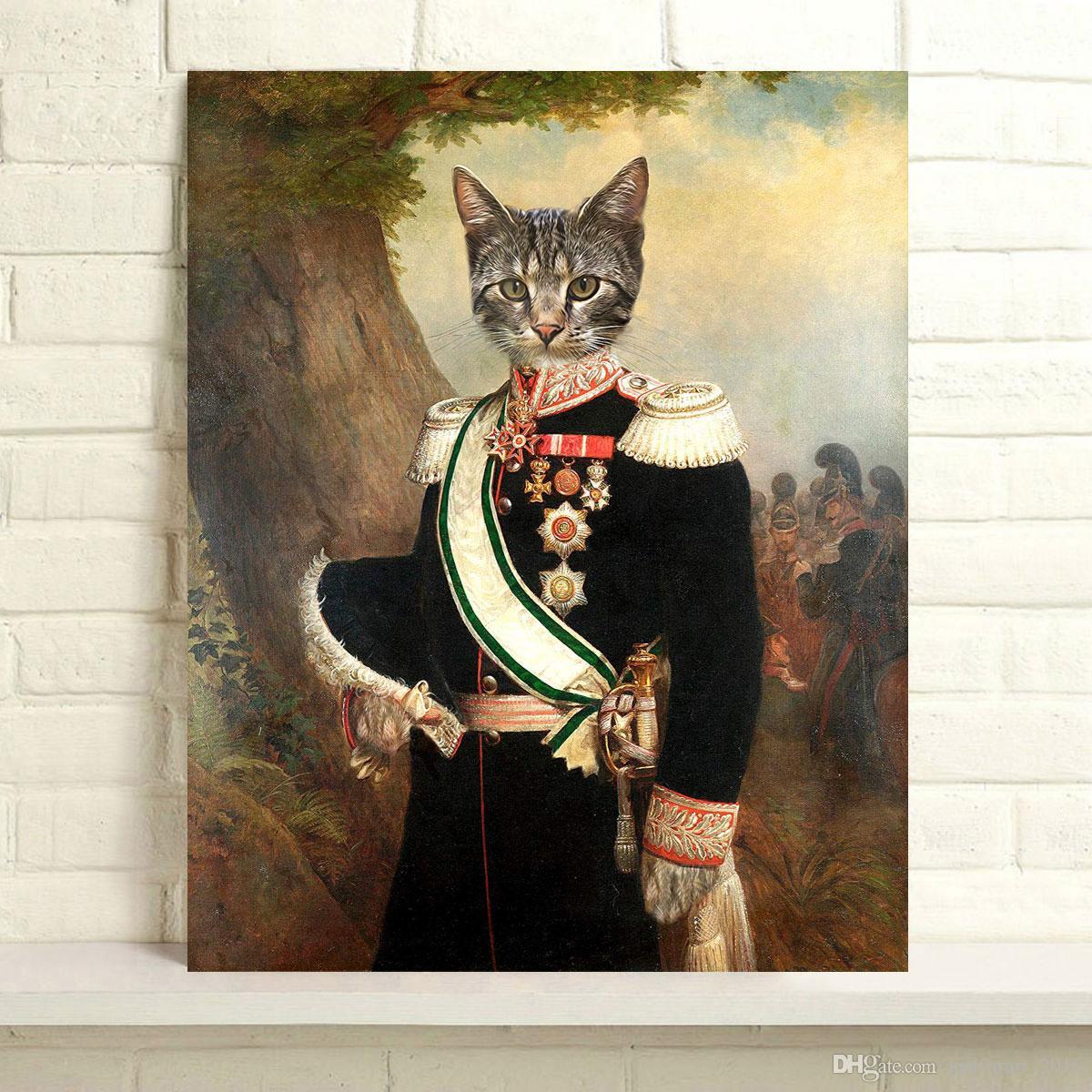 Handbemalte Thierry Poncelet Ölgemälde Hauptdekor-Wand-Kunst auf Leinwand Der Major General 24x30inch Unframed