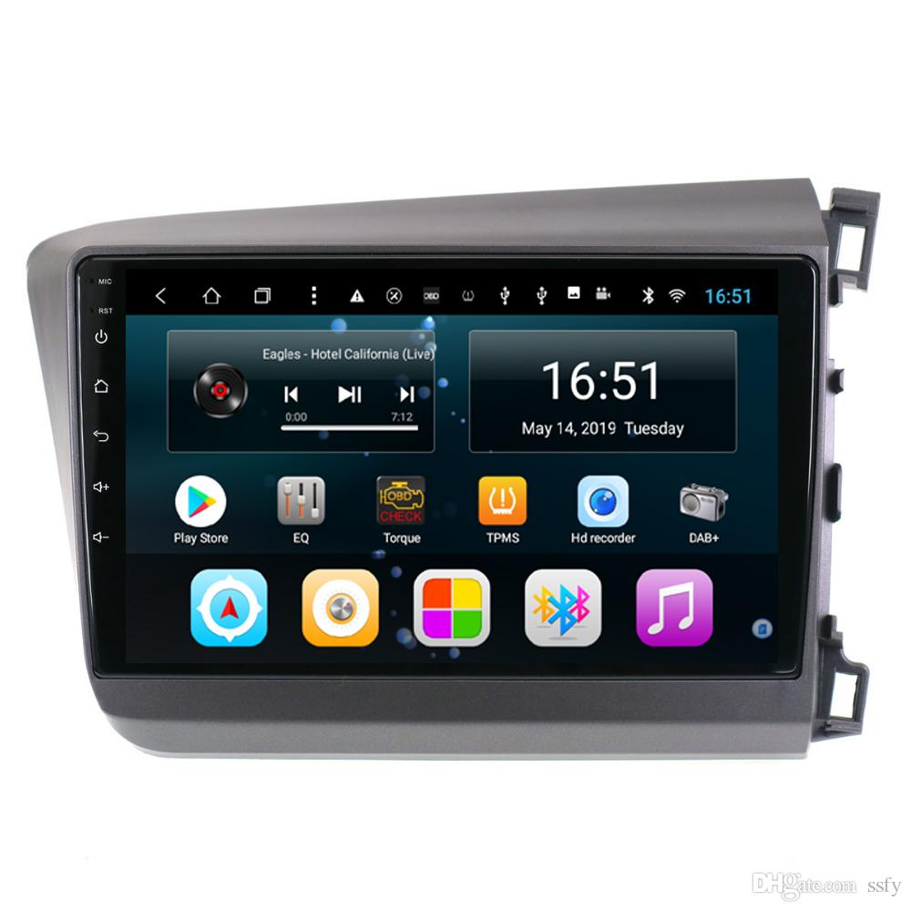 Android 10.1inch 8-core for Honda civic 2012-2015 right driving Car GPS Multimedia Player Support you set any wallpaper Wifi Head Unit