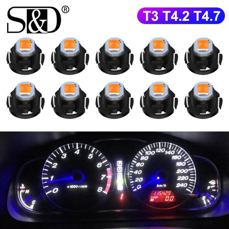 Indicato 온난화의 10pcs T3 LED 전구 T4.2 T4.7 LED 슈퍼 밝은 높은 품질의 자동차 보드 계기판 램프 자동차 대시 보드