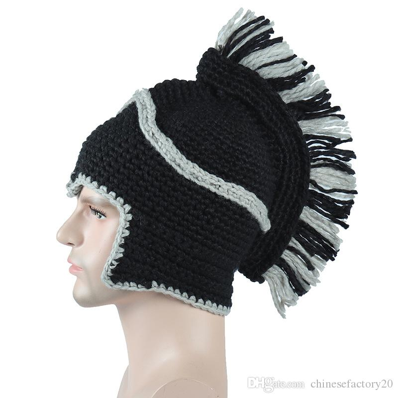 Knit Crochet Beanies Hat The Roman Knight Winter Warm Caps For Gladiators Man Woman Teenagers 2 Colors Hip Hop Hats