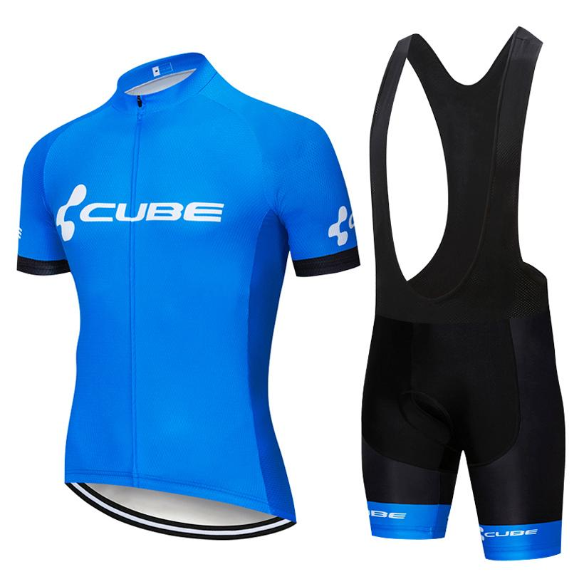 UCI 2020 Pro TEAM CUBE Cycling Jersey set Men / women Summer bicycle picky clothing MTB jersey bib shorts kit Ropa Ciclismo