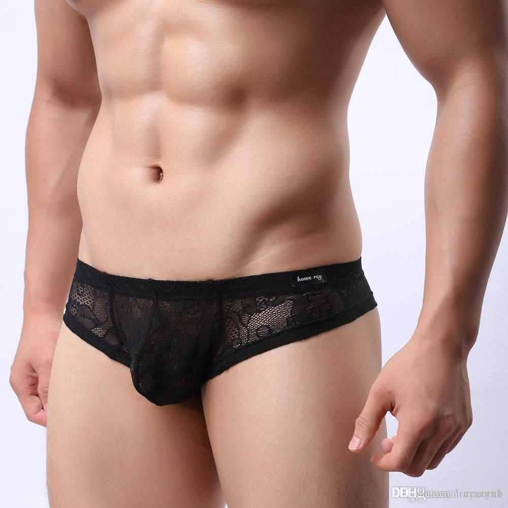 2020 كيف راي الرجال الرباط سراويل الرجال مثير ملابس داخلية شفافة ثونغ الانتفاخ الحقيبة تنفس غاي G سلاسل جنس ذكر ملابس سيسي
