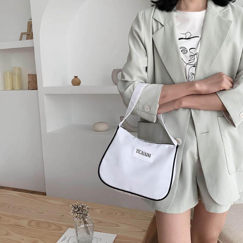 Duradera Mujeres Daily bolsos de nylon grande Capcity asa superior Bolsas Patrón Cartas de hombro simple bolso de compras