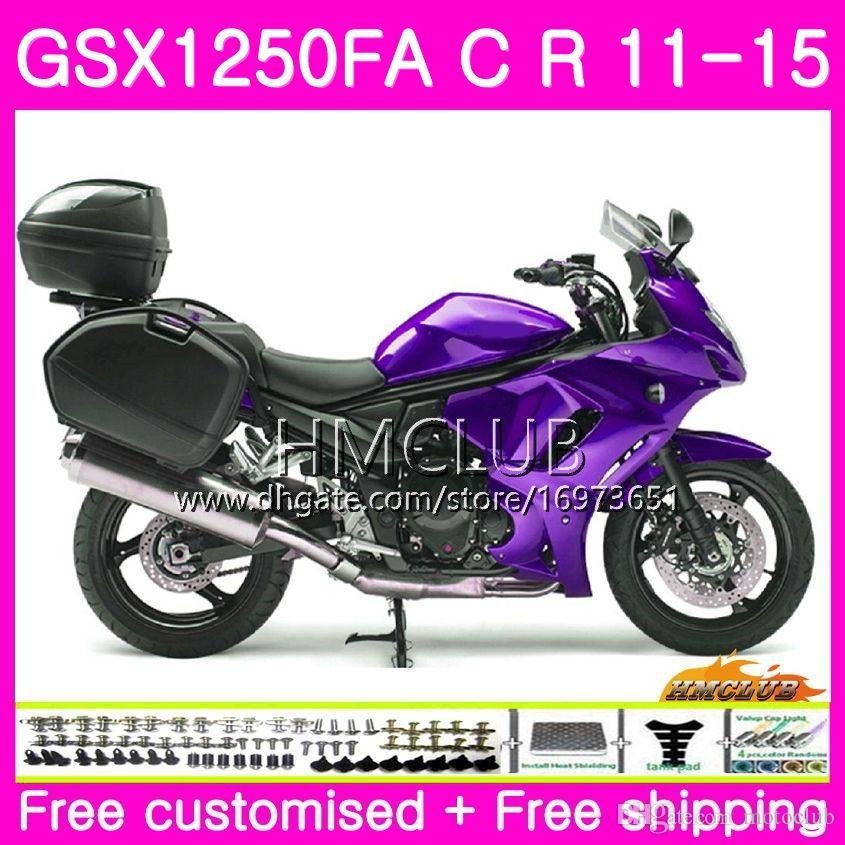 Body For SUZUKI Bandit GSX1250 C GSX1250F GSX1250FA 11 12 13 14 15 21HM.0 GSX1250C GSXF1250 2011 2012 2013 2014 2015 Fairing Glossy purple