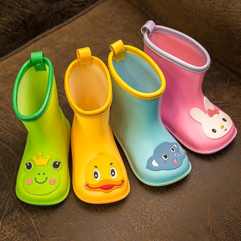 New Kid Regen Schuhe Kinder Stiefel Ankle Krusell Boy Baby-Karikatur-Wasserschuh-Kleinkind-Raincoat Mädchen Wasserdichte Regen Stiefel Frühling RJiZD