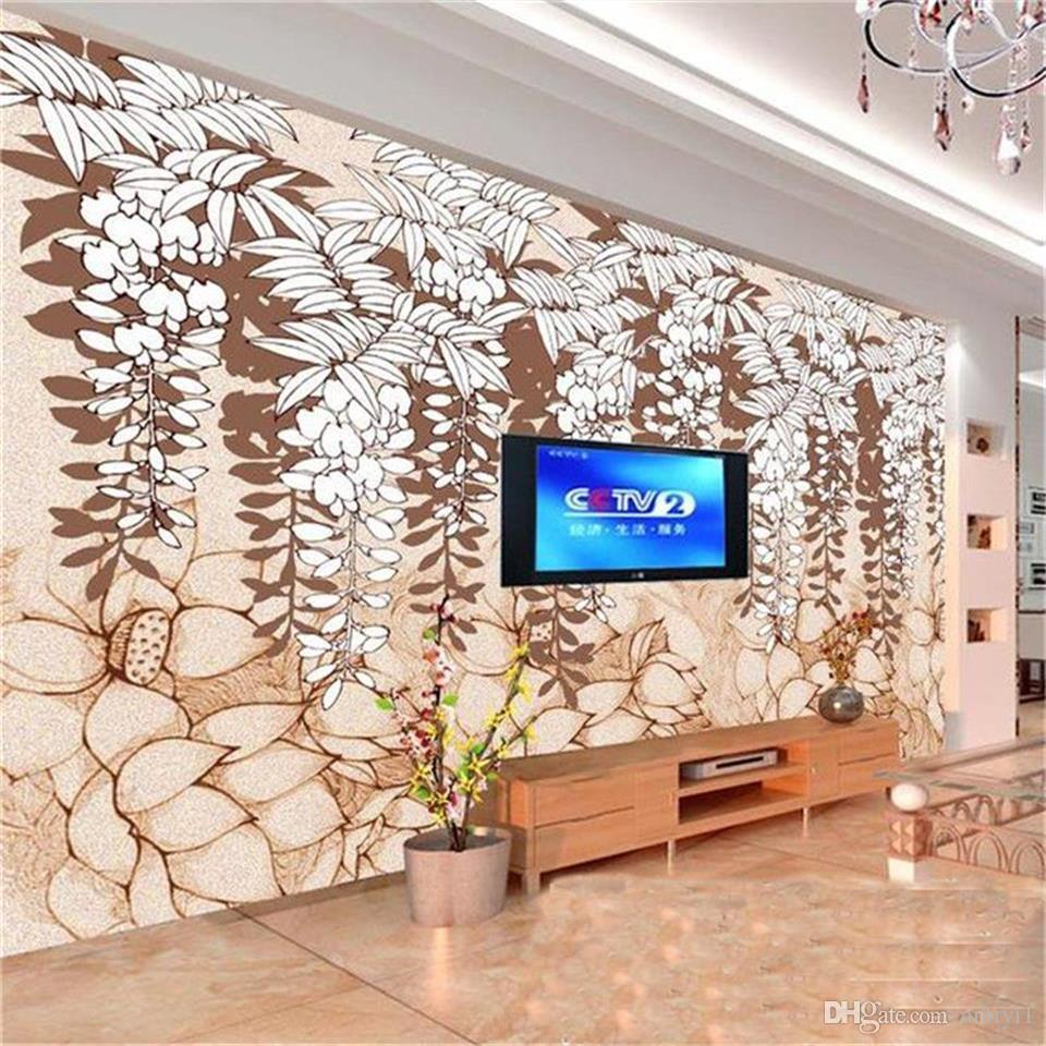 custom size 3d photo wallpaper living room mural Sophora japonica classical 3d picture sofa TV backdrop wallpaper non-woven wall sticker