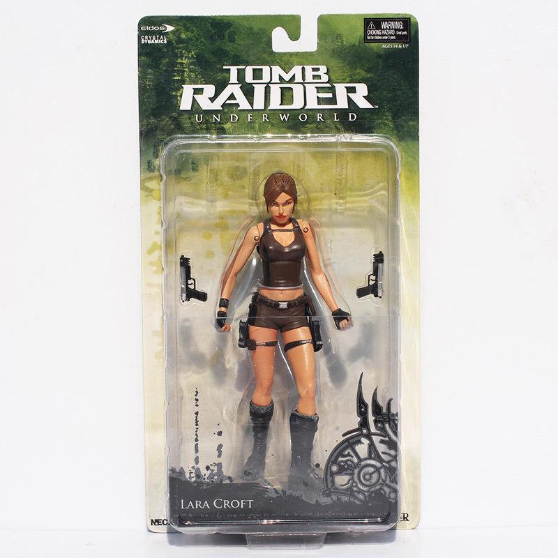 "1pcs Neca Tomb Raider Underworld Lara Croft Pvc Action Figure 7"" 18cm New In Box Free Shipping Y19062901"