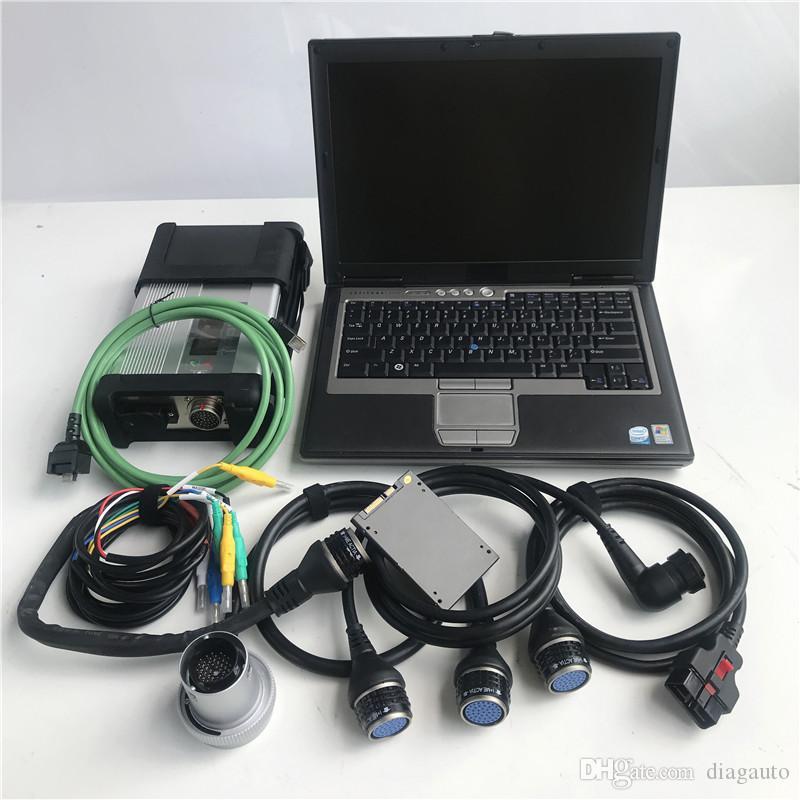 MB Star C5 outil de diagnostic pour MB ancienne réparation automobile avec Dell ordinateur D630 avec soft-SD Connect Ware C4 C5 installé pour voiture / camion