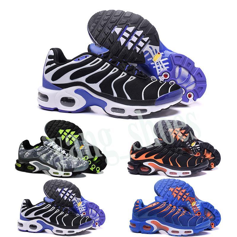 Nike Air Max TN Plus 2019 nuevos zapatos del clásico original Tn Moda Hombres zapatillas de malla transpirable Aire Tn Requin Chaussures Deporte Formadores Zapatillaes Y06