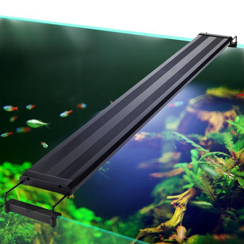 73-94cm Aquarium LED-Beleuchtung Wasserpflanze Beleuchtung Aquarium-Licht-Lampe mit ausziehbaren Brackets Fits für Aquarium
