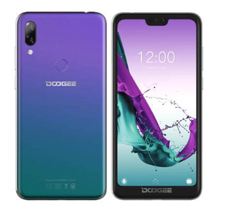 5.84 인치 DOOGEE Y7 휴대 전화 MTK6757 Octa Core 2.5GHz 6GB 64GB 16.0MP 5080mAh Android 8.1 지문 인식 인터페이스 4G OTG