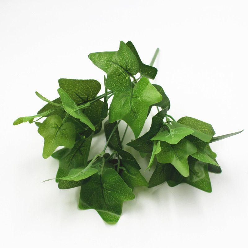 Батат Листья растений Искусственный белый лист плюща Банч Пластиковые Greenery 30см Long для дома украшения партии