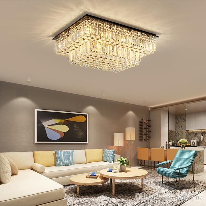 تصميم جديد الكريستال الثريا الإضاءة الحديثة الفاخرة الفريدة عالية نهاية السقف الكريستال K9 الثريات أضواء دافق جبل أدى مصابيح السقف