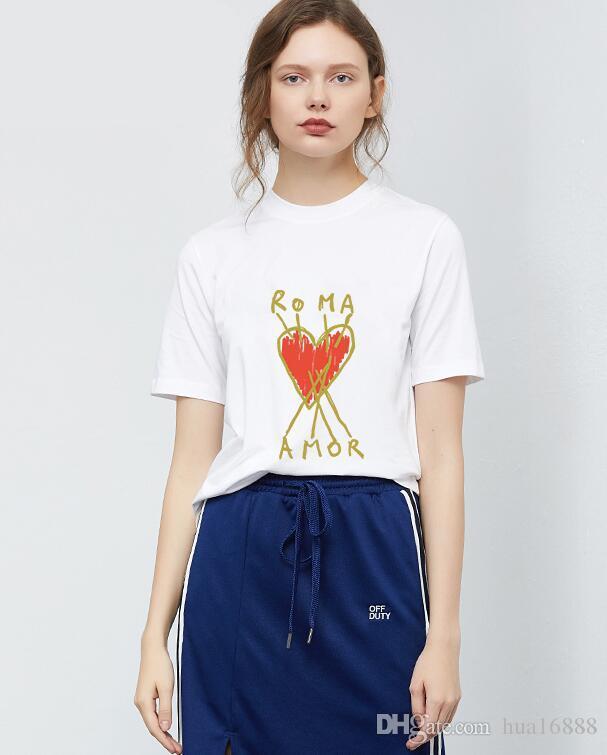 Nova Moda Verão Homens e mulheres T-shirt estudantes de design de Luxo de Manga Curta Tee Meninos meninas casual T-shirt tops # 360