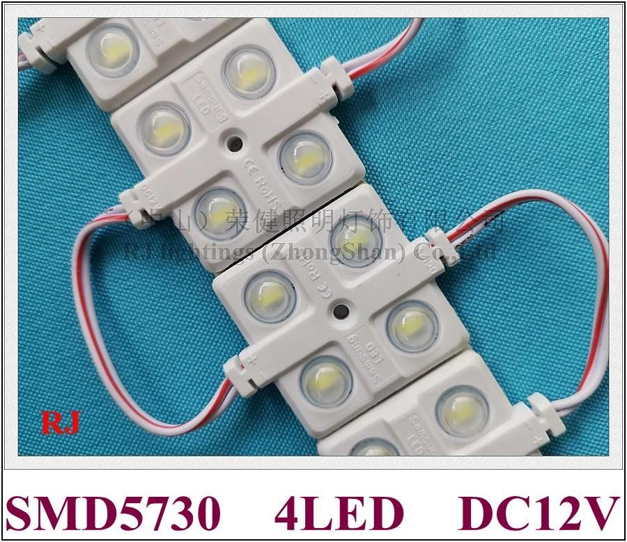ABS 주사 렌즈 전체 광의 각도 방수 LED 백라이트 백라이트 DC12V 2W 220lm SMD5730와 LED 모듈 IP65를 4LED
