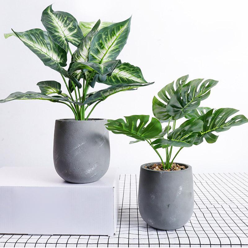 Fiore artificiale Set di simulazione verde pianta in vaso Turtle foglie di cactus domestico erba impianto di decorazione Nordic stile minimalista