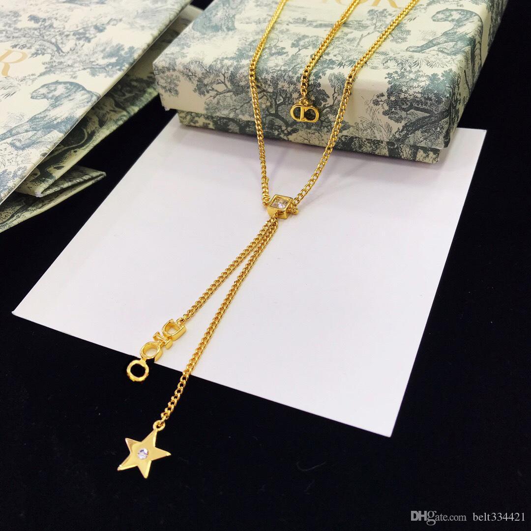 D nach Hause Französisch star Brief Halskette weiblicher Star in derselben Kette ins Tor Han Guodong Halskette direkt ab Werk Verkauf wickelt, zu Hause freies Verschiffen