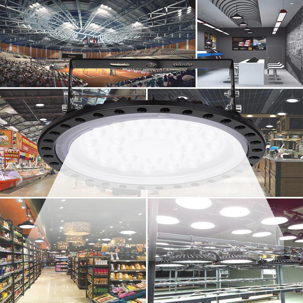 100W 초슬림 UFO LED가 높은 베이 조명 산업 라이트 홀 램프 마이닝 천장 조명 작업장 조명