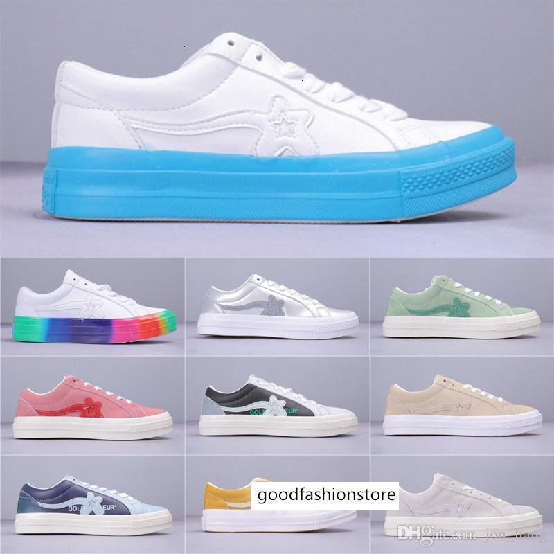 2019 Tyler Golf Le Fleur COLOR BLOCK Rainbow Man Women Casual One Star OX Industrial Pack Shoes Size 36-44