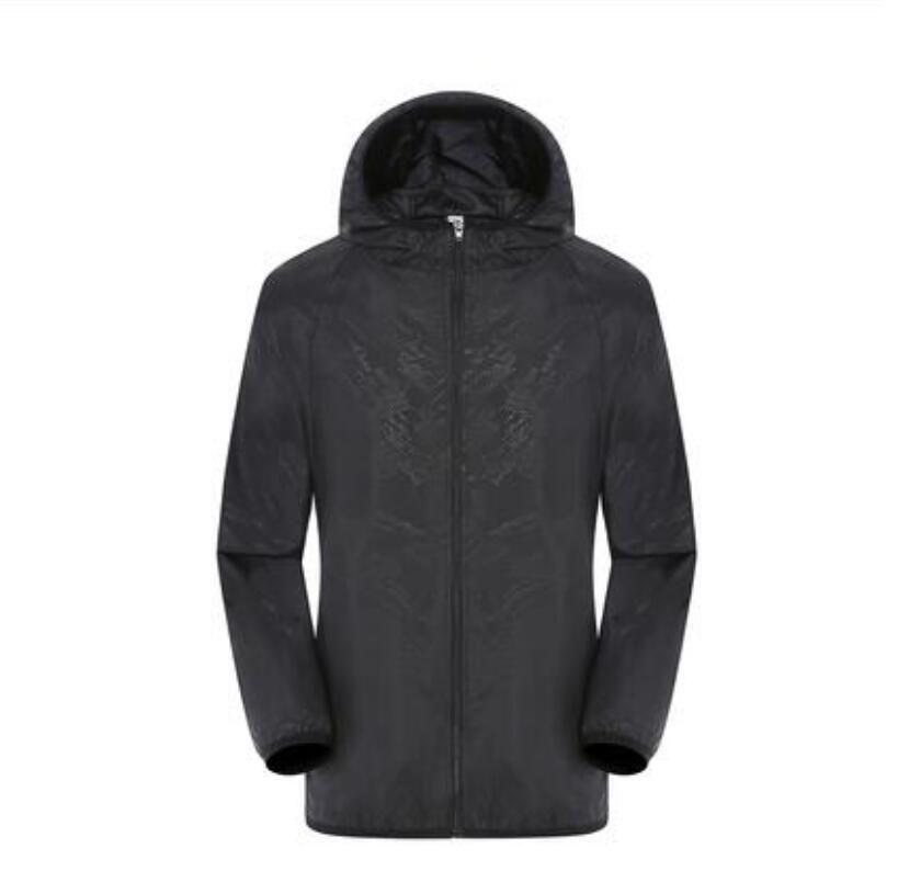 2019 estate delle donne CALDE del Mens di marca Rain Jacket casuale cappotti esterna con cappuccio antivento e impermeabile protezione solare viso cappotti S-3XL