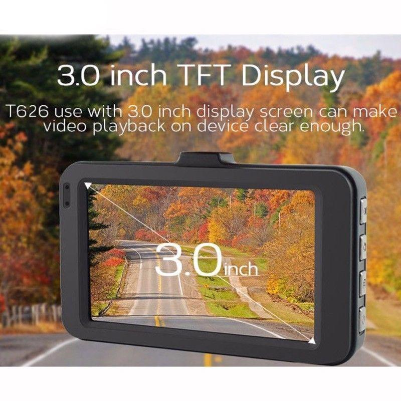 3 Inch Dash Cam Car DVR 1080P G-sensor Tachograph Camera Recorder HD Double Cameras Reversing Images All-in-one Cycle Recording
