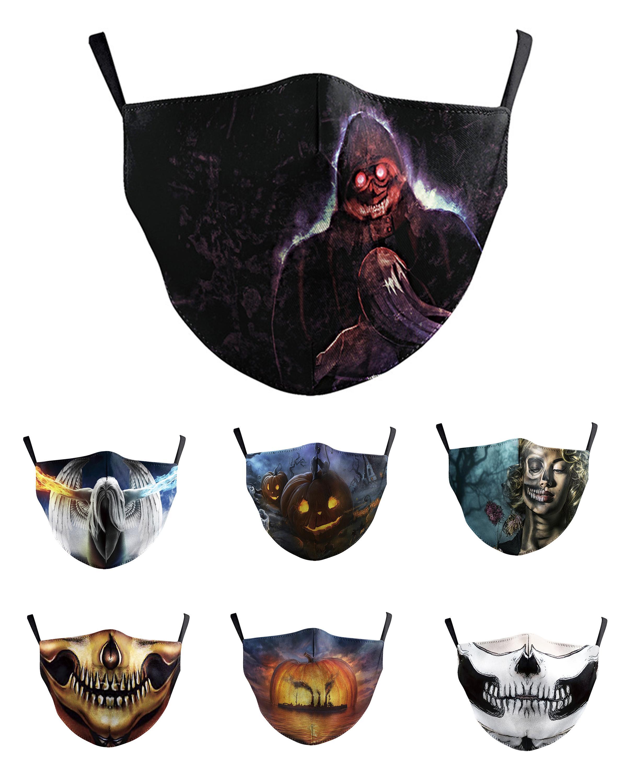 Tasarımcı Cadılar Bayramı İskelet Yüz stokta Erkekler Kadınlar İçin Kafatası Masquerade maskeler kabak Halloween Maske Maskesi