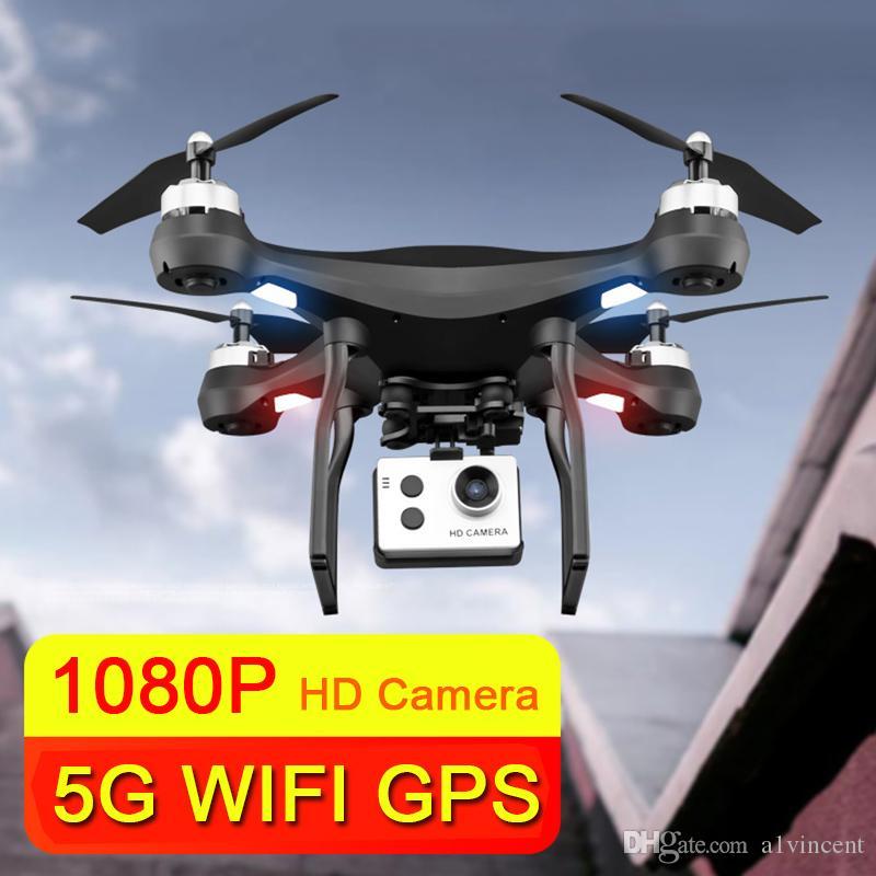 Light Leds Light Drone Aerial HD 1080P RC هليكوبتر المزدوج GPS لتحديد المواقع المهنية ESC كاميرا 5 جرام wifi نقل صورة كوادكوبتر