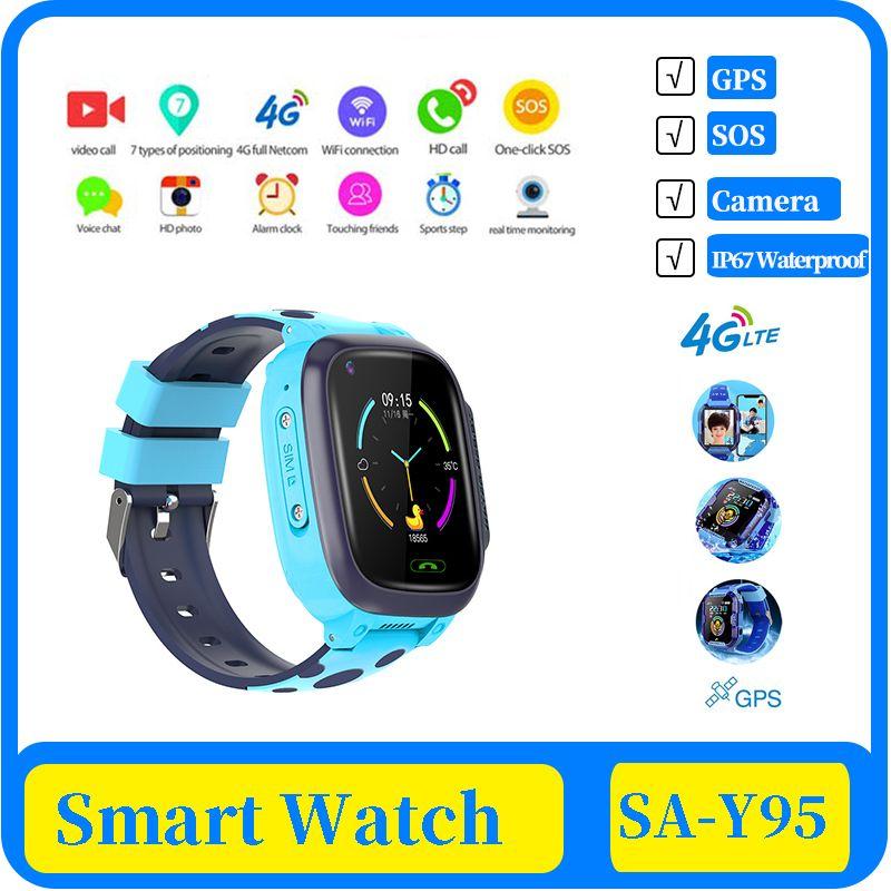الأطفال 100X 4G الاطفال 2020 ساعة ذكية IP67 warerproof ساعة ذكية GPS واي فاي تعقب مكالمة فيديو كاميرا تعمل باللمس ساعة ذكية الهاتف ووتش