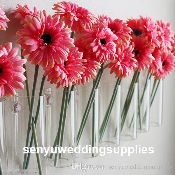 New style Transparent floral stand crystal acrylic vase wedding vase for wedding decoration