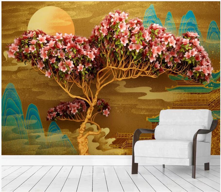 WDBH 3d обои на заказ фото цветы растительность пейзаж ТВ фон гостиная домашний декор 3d настенные фрески обои для стен 3d