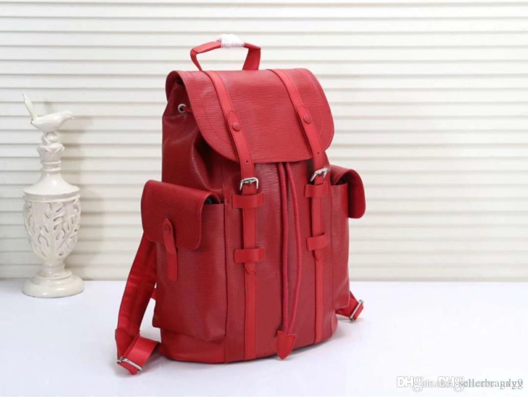 Diseñador de cuero de lujo de la marca de hombro de cuero mochila Boston bolso de los hombres 41X 47X 13cm 41379