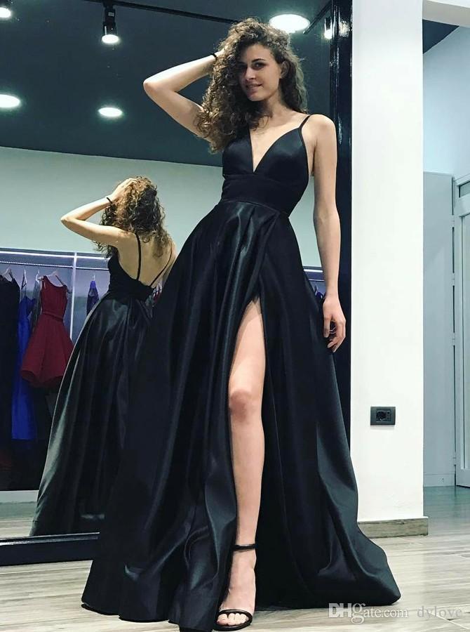 Сексуальные элегантные женщины черные платья выпускного вечера плюс размер мусульманский дубай арабский вечернее вечернее платье длинное 2021 длинное платье халат де Soiree