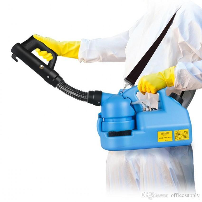 110V / 220V 7L Электрический ульф холодный туманный туман инсектицид распылитель ультра низкой емкости дезинфекции распылителя Mosquito Killer ULV холодный туманный аппарат