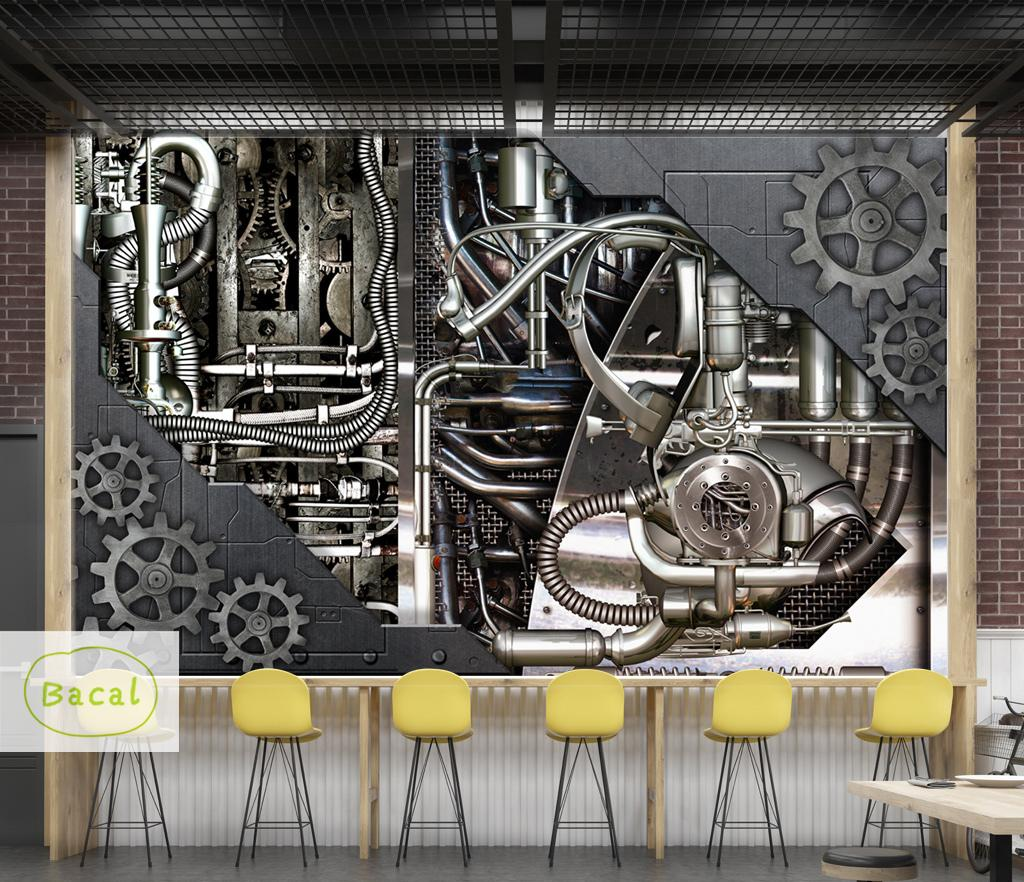 Bacal Custom Wall Mural 3d Retro Industrial Wind Coffee Shop Bar Restaurant Backdrop Wall Painting Living Room 5 Wallpaper Mural Hd Wallpaper Hd Hd Wallpaper Hd Wallpaper Hd Wallpaper From Sophine12 19 40