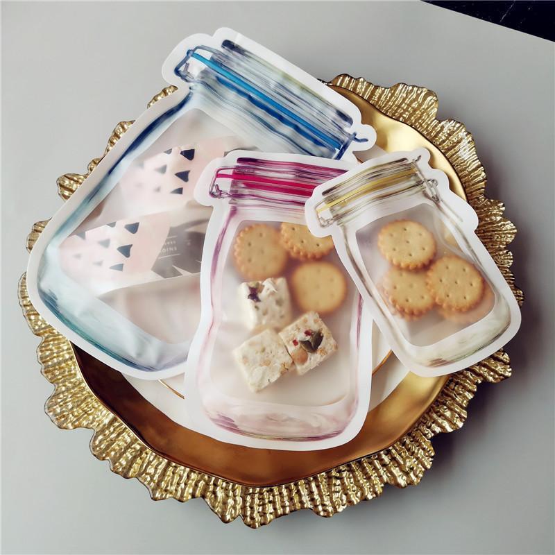 20Pcs Mason Taschen Jar Flaschen Zipper Bag Wiederverwendbare Food Storage Snack Sandwich Mason Bag Seal Frisch versiegelte Beutel Food Saver Taschen