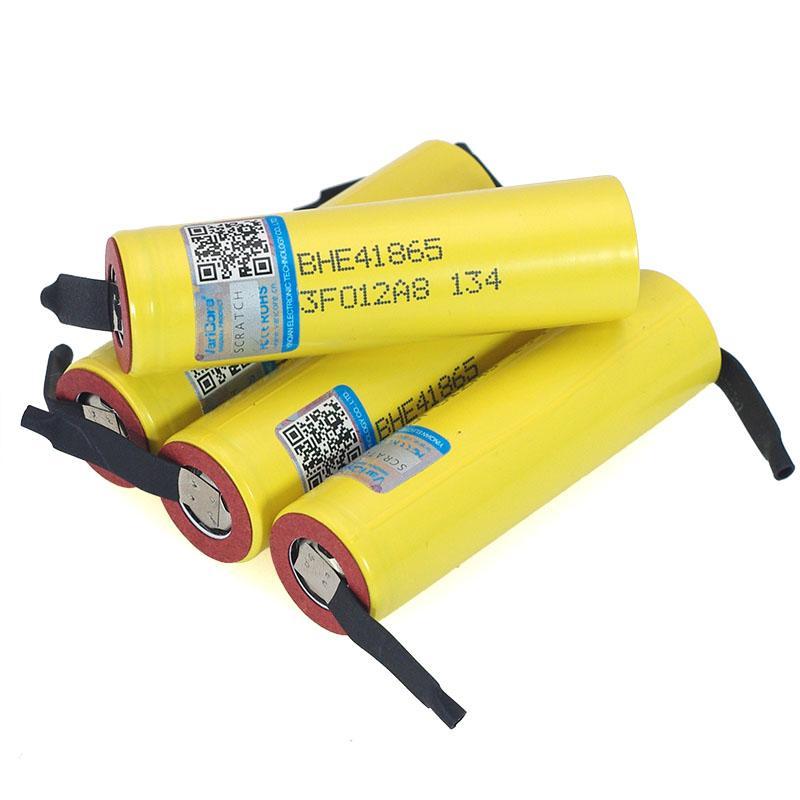 100% New Original HE4 18650 Rechargeable li-lon battery 3.6V 2500mAh Battery 20A 35A discharge + DIY Nickel sheet