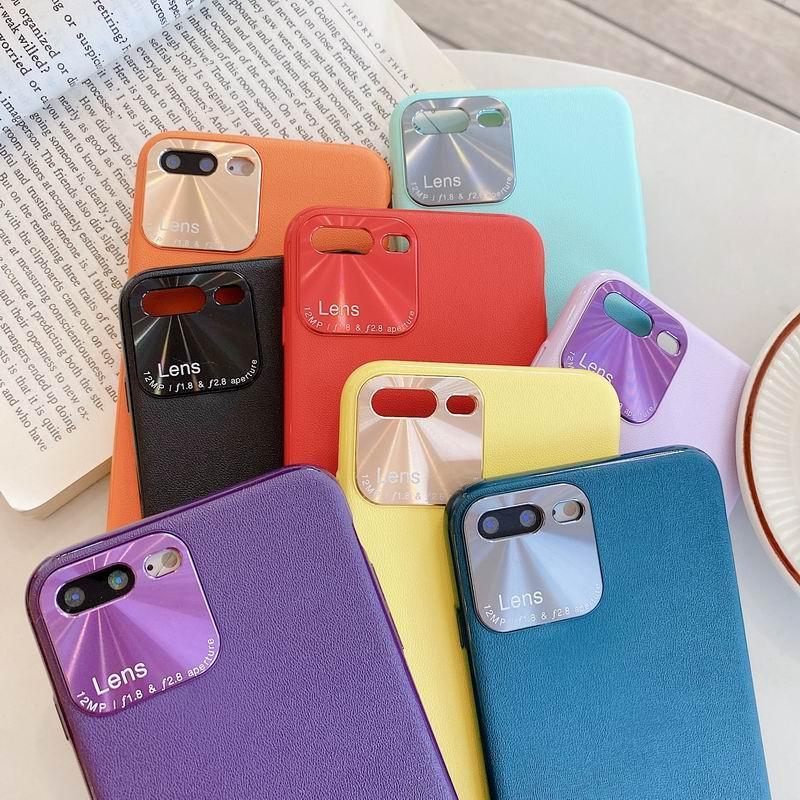 Stilvolle feste Farbe PU-Leder-Handyfall für iphone 11 pro Xs Max XR 6 7 8 Plus Fall für Apple-Leder-Telefonkasten