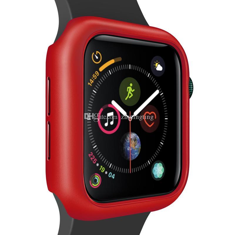 Super dünne Ladekantenschutz PC Hard Case Cover Lightweight Slim Shockproof Zubehör Matte Frame für Apple Watch Serie 4 44mm 40mm