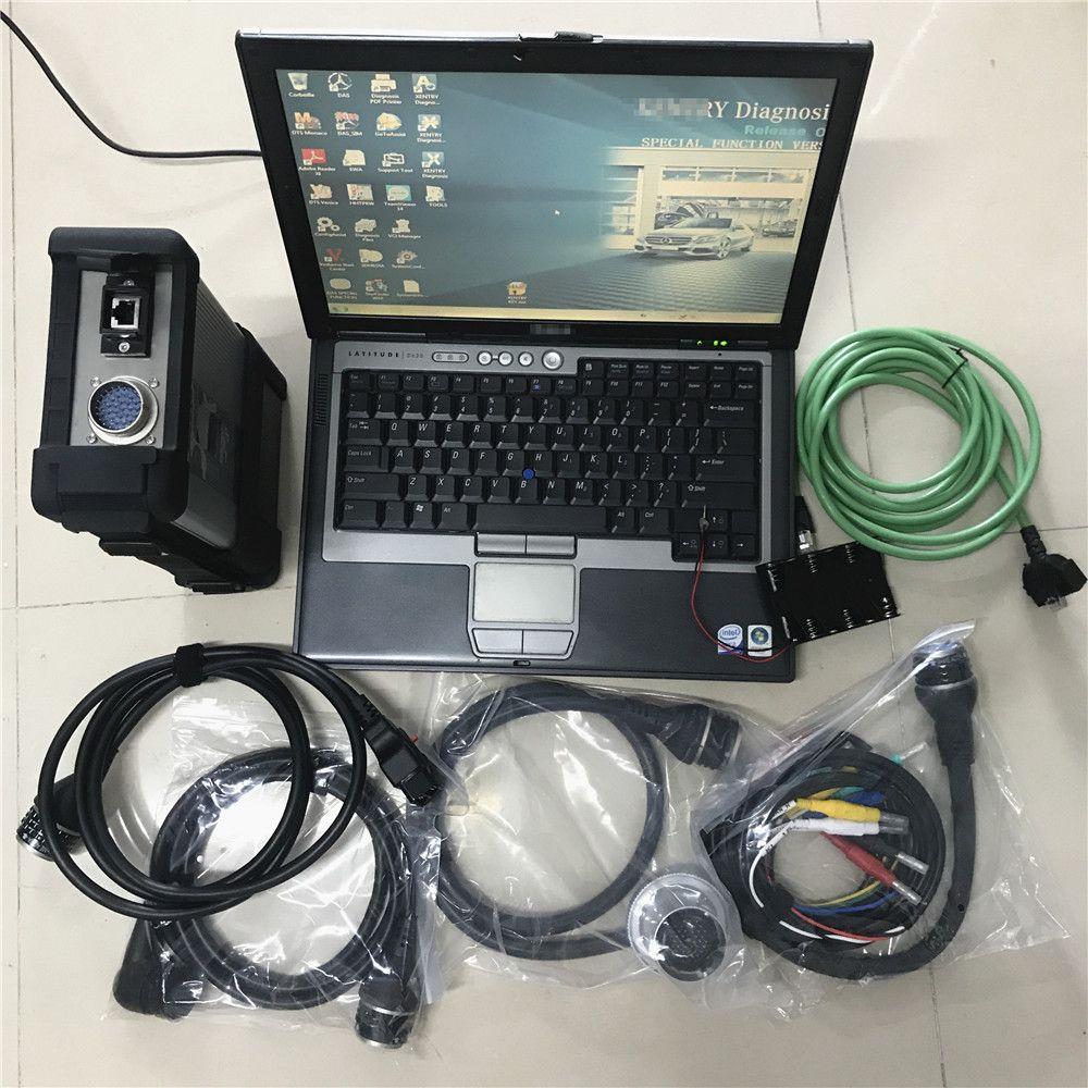 Nouveau Connecteur STR STAR C5 SD avec outil de diagnostic de voiture et camions MB + SSD SSD 2021.03V Vediamo / X / DSA / DTS dans d630 Ordinateur portable usagé